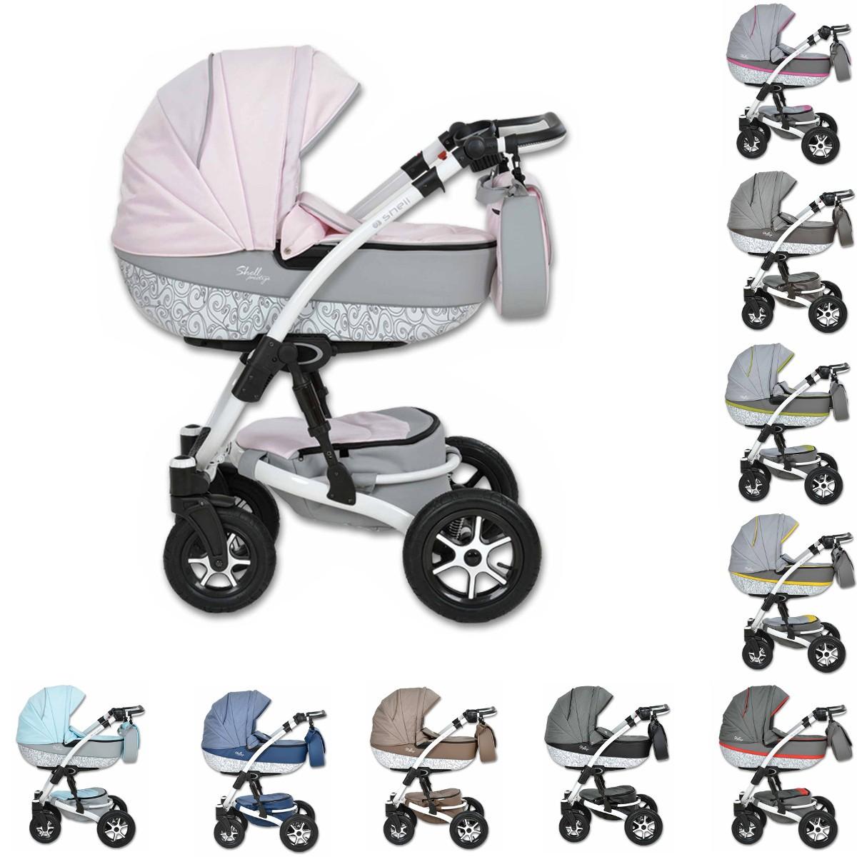 shell prestige kombi kinderwagen 2in1 mit babywanne sportwagenaufsatz buggy oder 3in1. Black Bedroom Furniture Sets. Home Design Ideas