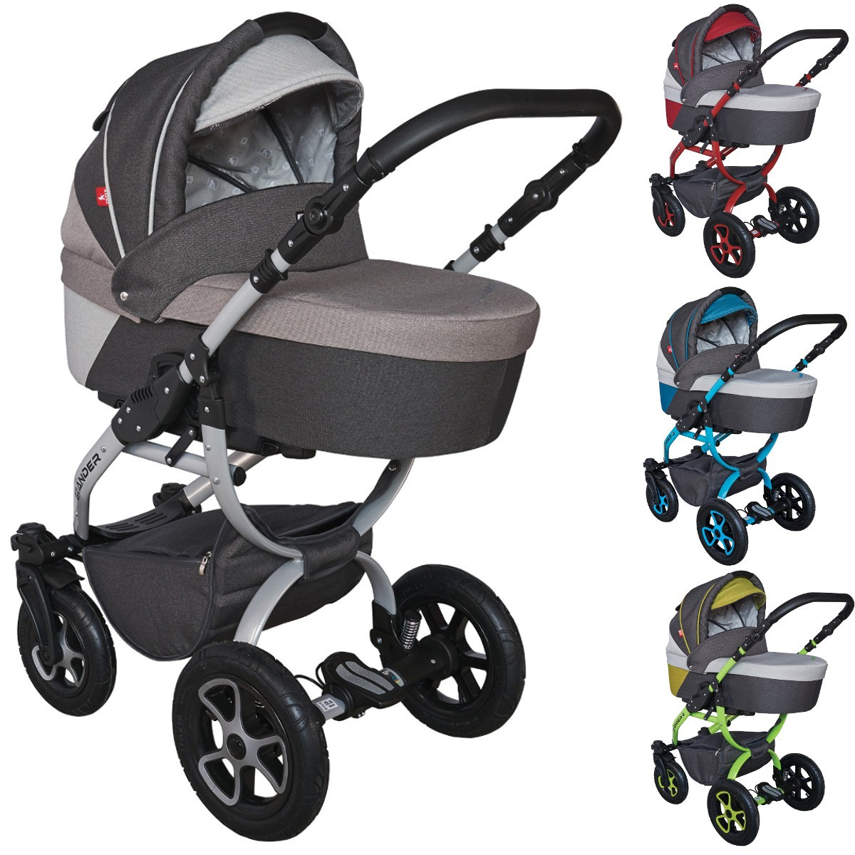 tutek grander lift kombi kinderwagen 2in1 mit babywanne sportwagenaufsatz buggy oder 3in1. Black Bedroom Furniture Sets. Home Design Ideas