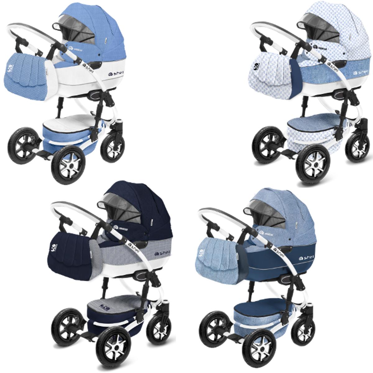 shell kombi kinderwagen 2in1 oder 3in1 mit babywanne sportwagenaufsatz buggy babyschale. Black Bedroom Furniture Sets. Home Design Ideas