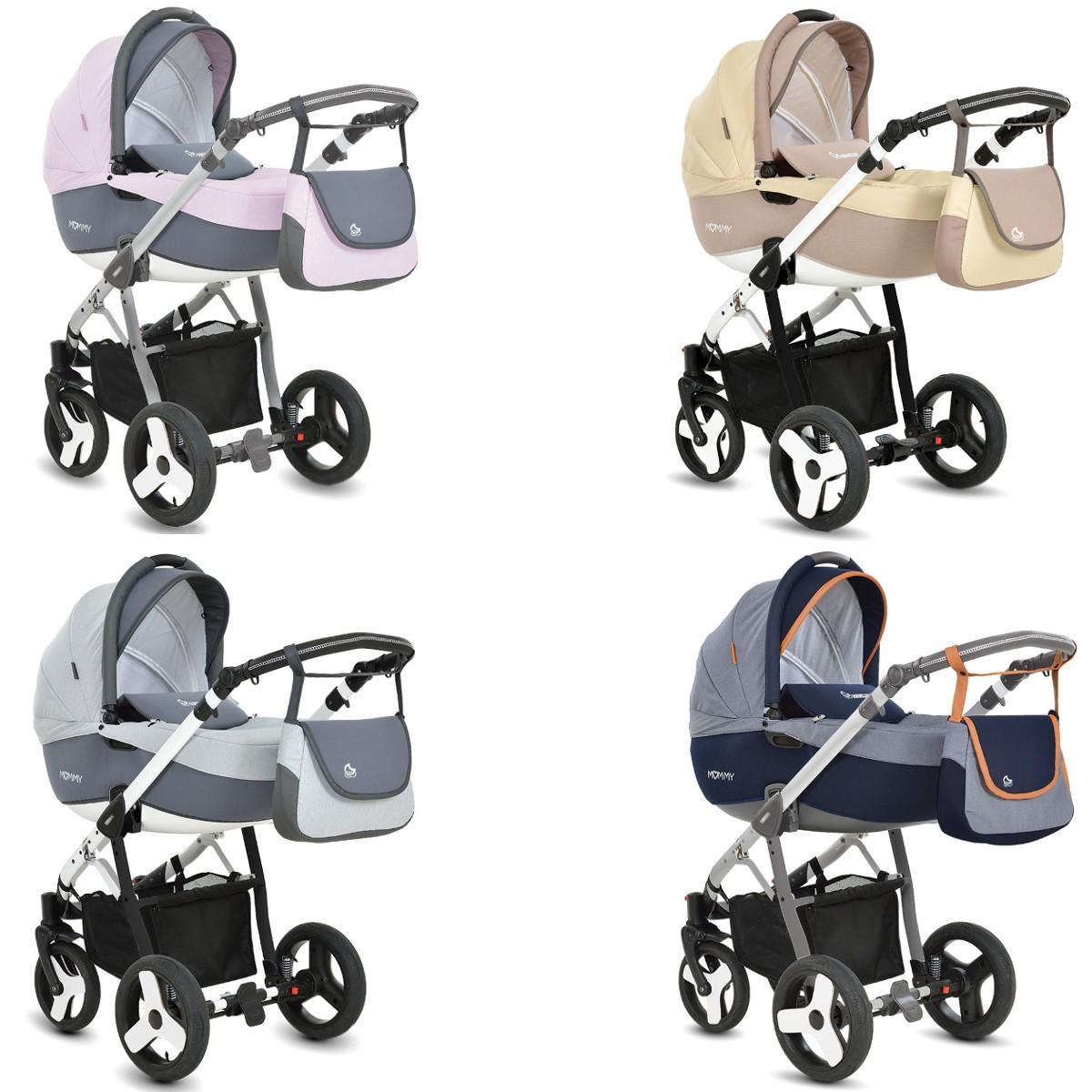 mommy kombi kinderwagen 2in1 mit babywanne sportwagenaufsatz buggy 4 farben. Black Bedroom Furniture Sets. Home Design Ideas
