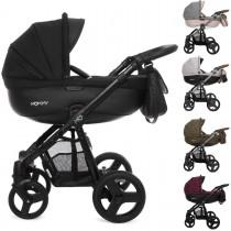 MOMMY Kombi Kinderwagen 2in1 mit Babywanne + Sportwagenaufsatz / Buggy oder 3in1 + Babyschale / Autoschale, Kollektion 2018, 5 Farben