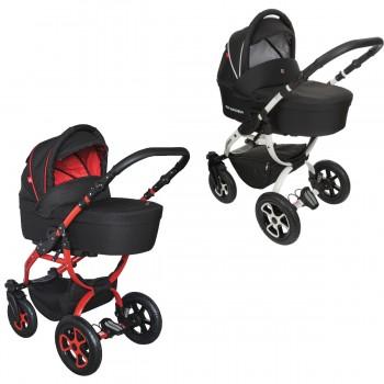 Tutek Grander Lift Black Kombi Kinderwagen, 2in1 mit Babywanne + Sportwagenaufsatz / Buggy oder 3in1 + Babyschale / Autoschale, 2 Farben