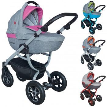 Tutek Grander Play Kombi Kinderwagen, 2in1 mit Babywanne + Sportwagenaufsatz / Buggy oder 3in1 + Babyschale / Autoschale, 4 Farben