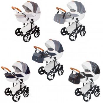 Kombi-Kinderwagen Delti Amelis Hugo 2in1 mit Babywanne & Sportwagenaufsatz / Buggy oder 3in1 + Babyschale, 5 Farben