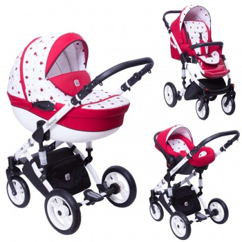 Dada Paradiso Marienkäfer 2in1 mit Babywanne + Sportwagenaufsatz / Buggy oder 3in1 + Babyschale / Autoschale