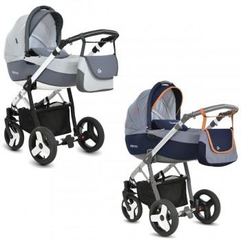 MOMMY Kombi Kinderwagen 2in1 mit Babywanne + Sportwagenaufsatz / Buggy oder 3in1 + Babyschale / Autoschale, 2 Farben