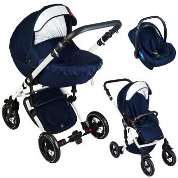 Dada Paradiso Racing Kombi Kinderwagen 2in1 mit Babywanne + Sportwagenaufsatz / Buggy oder 3in1 + Babyschale / Autoschale