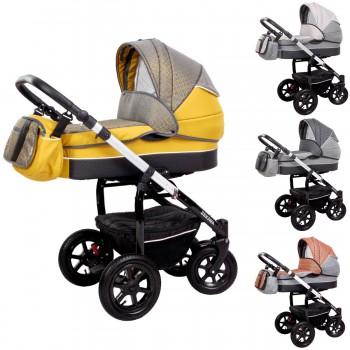 Zekiwa Kombi-Kinderwagen Saturn Premium 2in1 mit Babywanne & Sportwagenaufsatz / Buggy oder 3in1 + Babyschale, 4 Farben