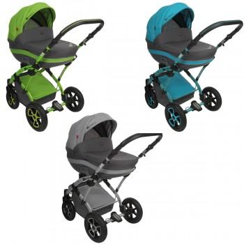 Tutek Tambero Kombi Kinderwagen, 2in1 mit Babywanne + Sportwagenaufsatz / Buggy oder 3in1 + Babyschale / Autoschale, 3 Farben
