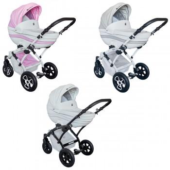 Tutek Tambero Eco Kombi Kinderwagen, 2in1 mit Babywanne + Sportwagenaufsatz / Buggy oder 3in1 + Babyschale / Autoschale, 3 Farben