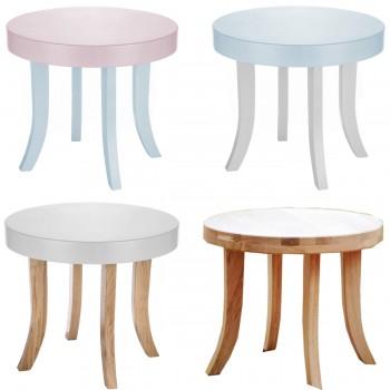 Somebunny hochwertiger Designer Tisch rund, 100% handgemacht, mitwachsend