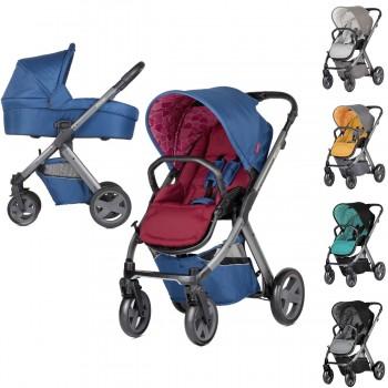 Vielseitiger und kompakter Kinderwagen / Sportwagen X-Pulse, konfigurierbar, 5 Farben