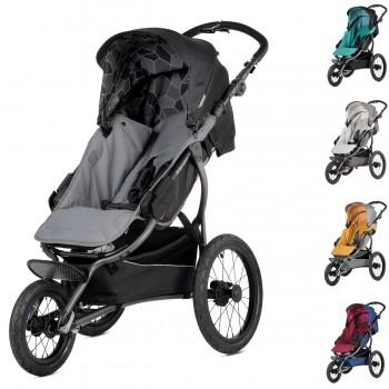 sportlicher Jogging Kinderwagen / Sportwagen X-Run - nur Sportwagen oder mit Babywanne, 3 Farben