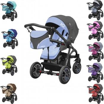 Komfort Buggy / Sportwagen XQ kombinierbar mit Babyschale, Gestell schwarz, 10 Farben