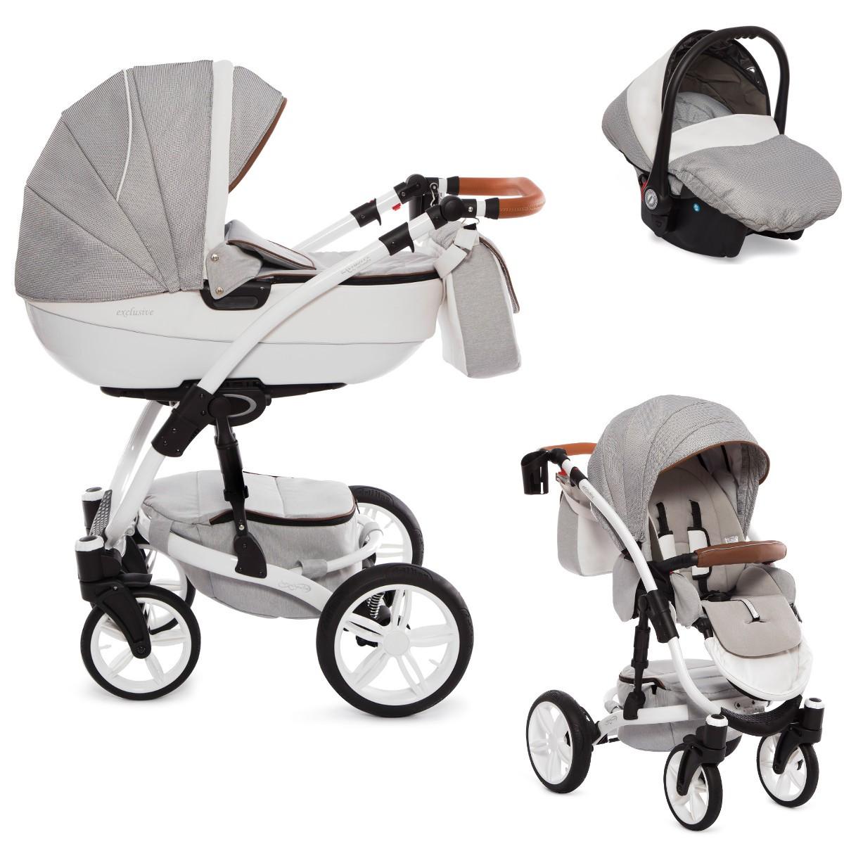 exclusive kombi kinderwagen 2in1 mit babywanne. Black Bedroom Furniture Sets. Home Design Ideas