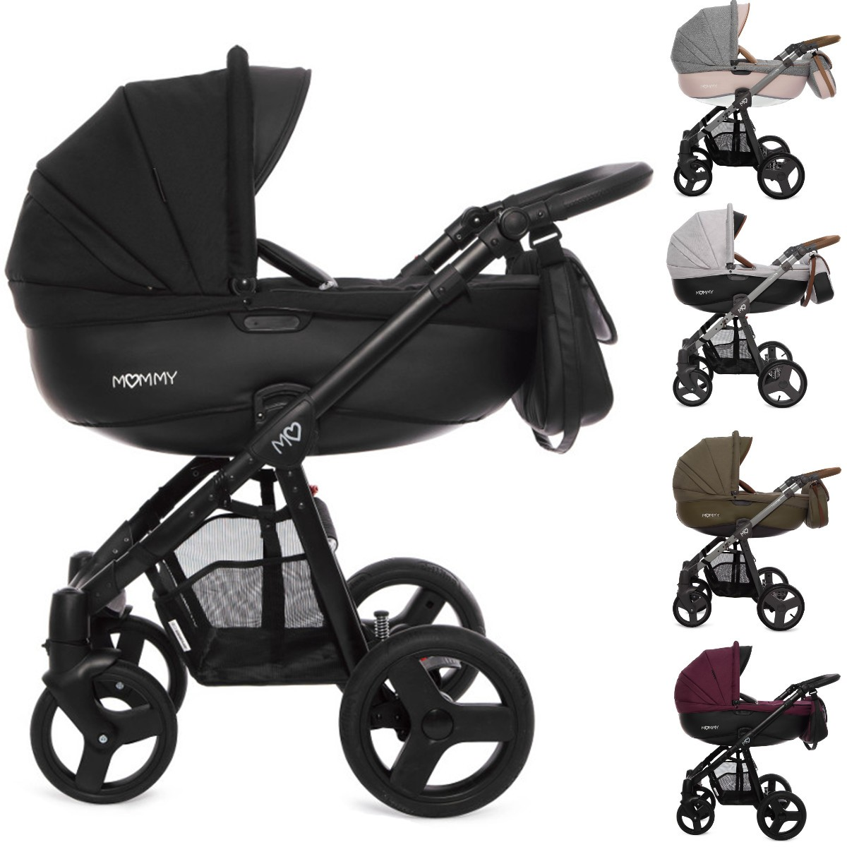 mommy kombi kinderwagen 2in1 mit babywanne sportwagenaufsatz buggy oder 3in1 babyschale. Black Bedroom Furniture Sets. Home Design Ideas