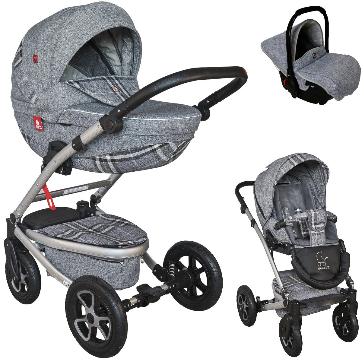 timer kombi kinderwagen 2in1 mit babywanne sportwagenaufsatz buggy oder 3in1 babyschale. Black Bedroom Furniture Sets. Home Design Ideas