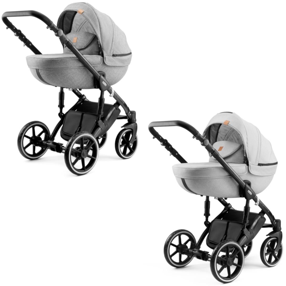 Dada Paradiso MAX 500 NEU Kombi Kinderwagen 2in1 mit Babywanne + Sportwagenaufsatz / Buggy oder 3in1 + Babyschale / Autoschale, 2 Farben