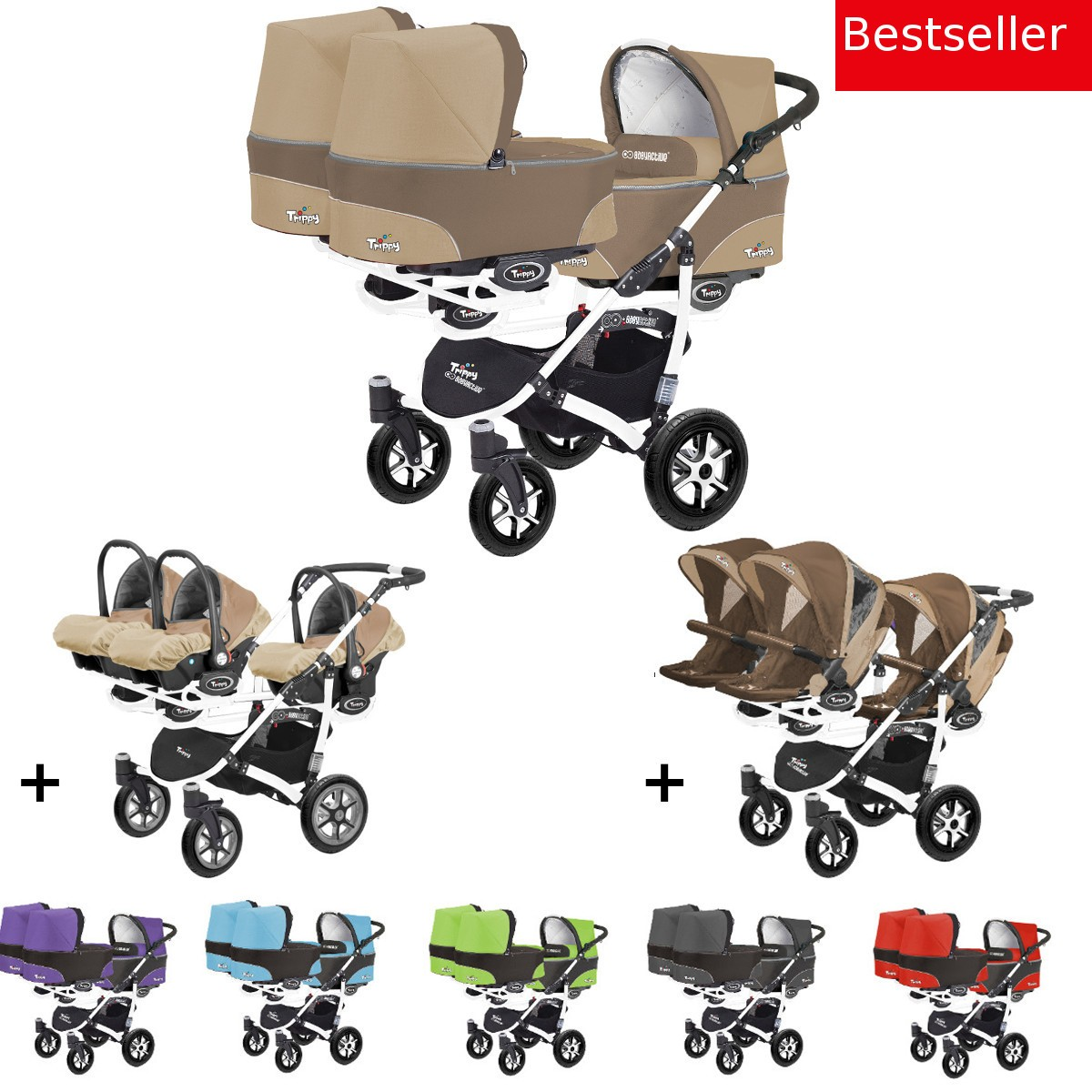 trippy drillings kombi kinderwagen 3in1 komplettset mit. Black Bedroom Furniture Sets. Home Design Ideas