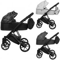 Musse Boss Kombi Kinderwagen 2in1 mit Babywanne + Sportwagenaufsatz / Buggy oder 3in1 + Babyschale / Autoschale, 3 Farben