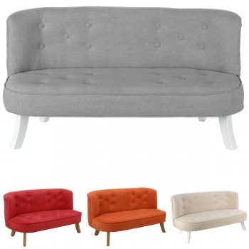 Somebunny Design Luxus Kindersofa Samt, 100% handgemacht, mitwachsend, 2 Farben