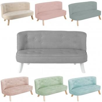 Somebunny Design Luxus Kindersofa Samt, 100% handgemacht, mitwachsend, 7 Farben