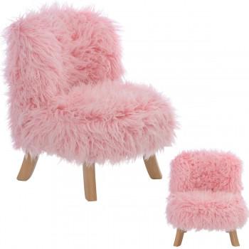 Somebunny Design Luxus Kindersessel Fake-Fur, 100% handgemacht, mitwachsend