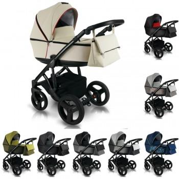 Bexa Light Eco Kinderwagen 2in1 mit Babywanne + Sportwagenaufsatz oder 3in1 mit Babyschale / Autoschale, 8 Farben