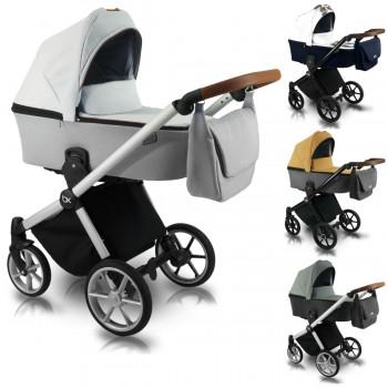 Bexa Ultra Style X Kombi Kinderwagen, 2in1 mit Babywanne + Sportwagenaufsatz / Buggy oder 3in1 + Babyschale / Autoschale, 4 Farben