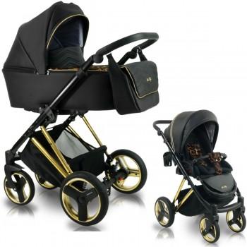 Bexa Ultra Style V Kombi Kinderwagen, 2in1 mit Babywanne + Sportwagenaufsatz / Buggy oder 3in1 + Babyschale / Autoschale