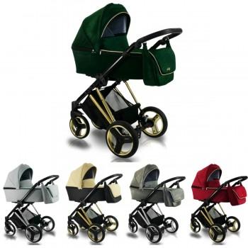 Bexa Ultra Style V Kombi Kinderwagen, 2in1 mit Babywanne + Sportwagenaufsatz / Buggy oder 3in1 + Babyschale / Autoschale, 5 Farben