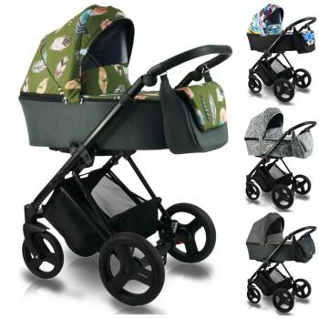 Bexa Ultra Style V Kombi Kinderwagen, 2in1 mit Babywanne + Sportwagenaufsatz / Buggy oder 3in1 + Babyschale / Autoschale, 4 Farben