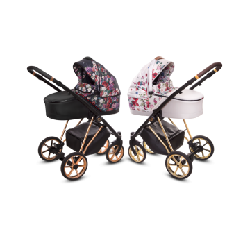 Musse Kombi Kinderwagen 2in1 mit Babywanne + Sportwagenaufsatz / Buggy oder 3in1 + Babyschale / Autoschale, 2 Farben