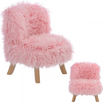 Somebunny Design Luxus Kindersessel Fake-Fur, 100% handgemacht, mitwachsend