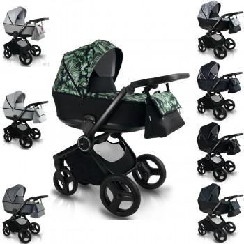 Bexa Fresh Kinderwagen mit Babywanne oder 2in1 mit Babywanne + Sportwagenaufsatz, 8 Farben