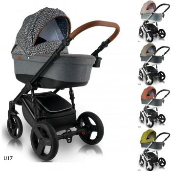 Bexa Ultra Kombi Kinderwagen, 2in1 mit Babywanne + Sportwagenaufsatz / Buggy oder 3in1 + Babyschale / Autoschale, 5 Farben