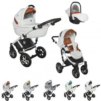 Tutek Tirso Eco Kombi Kinderwagen, 2in1 mit Babywanne + Sportwagenaufsatz / Buggy oder 3in1 + Babyschale / Autoschale, 2 Farben