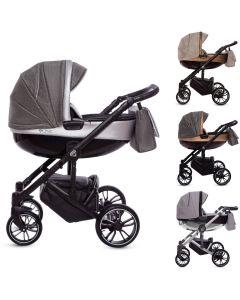 CHIC Kombi Kinderwagen 2in1 mit Babywanne + Sportwagenaufsatz / Buggy oder 3in1 + Babyschale / Autoschale, 4 Farben