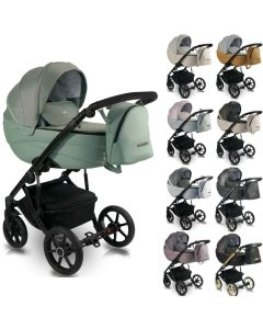 Bexa Ideal 2020 Kombi Kinderwagen, 2in1 mit Babywanne + Sportwagenaufsatz / Buggy oder 3in1 + Babyschale / Autoschale, 9 Farben6