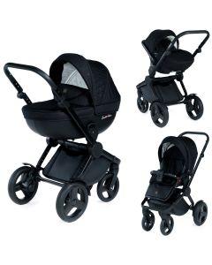 Dada Paradiso Limited Edition Black Code 2in1 mit Babywanne + Sportwagenaufsatz / Buggy oder 3in1 + Babyschale / Autoschale