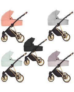 Musse Ultra Kombi Kinderwagen 2in1 mit Babywanne + Sportwagenaufsatz / Buggy oder 3in1 + Babyschale / Autoschale, 5 Farben
