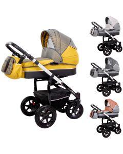 Zekiwa Kombi-Kinderwagen Saturn Premium 2in1 mit Babywanne & Sportwagenaufsatz / Buggy oder 3in1 + Babyschale, 3 Farben