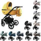 Bexa Air Kombi Kinderwagen, 2in1 mit Babywanne + Sportwagenaufsatz / Buggy oder 3in1 + Babyschale / Autoschale, 10 Farben