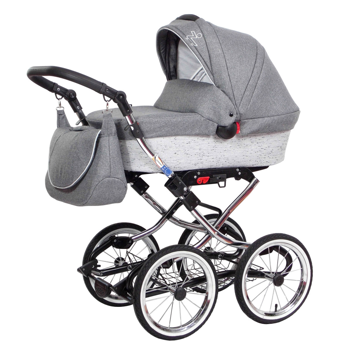 zekiwa retro kinderwagen luxus complete 2in1 mit babywanne sportwagenaufsatz buggy 3 farben. Black Bedroom Furniture Sets. Home Design Ideas